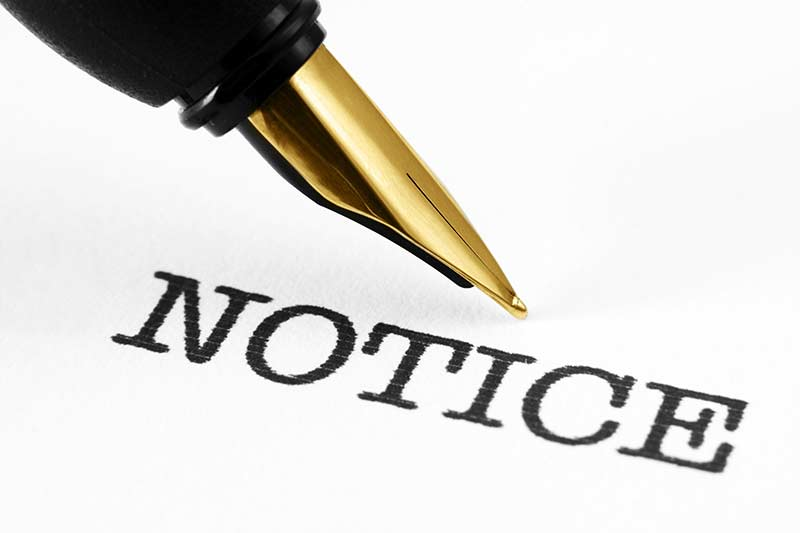 pen and word notice
