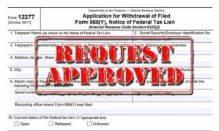 irs form 12277 appliciation for withdrawal of lien